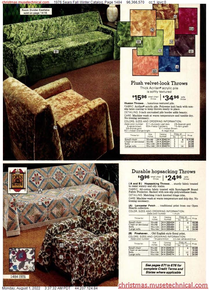 1976 Sears Fall Winter Catalog, Page 1484