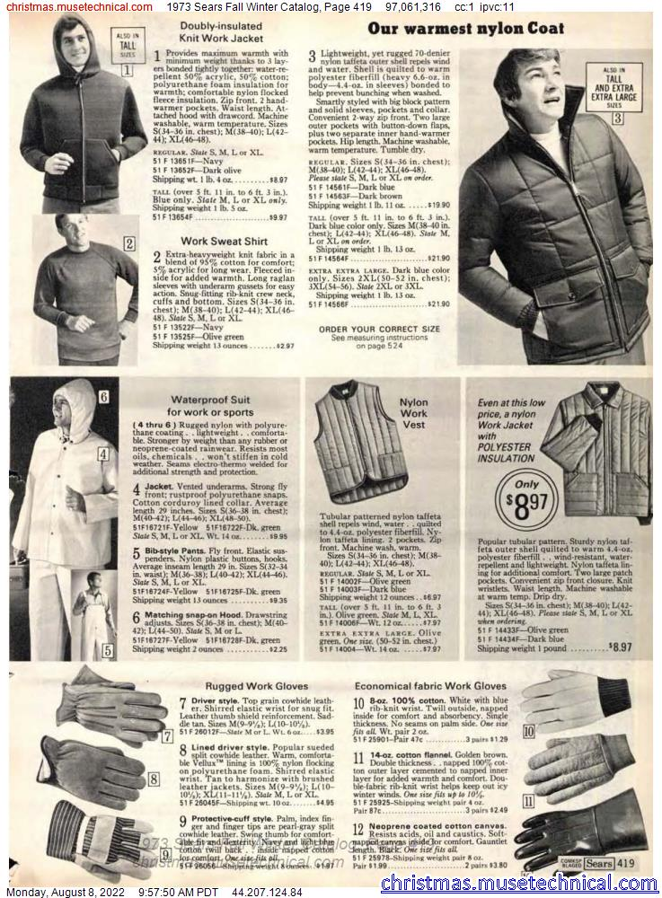 1973 Sears Fall Winter Catalog, Page 419