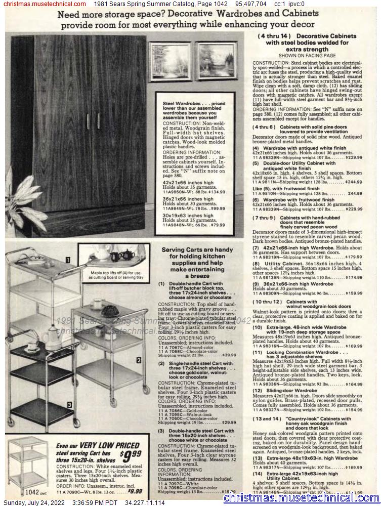 1981 Sears Spring Summer Catalog, Page 1042