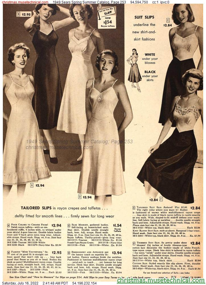 1949 Sears Spring Summer Catalog, Page 253