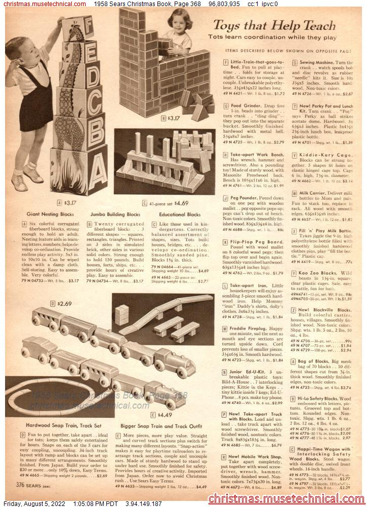 1958 Sears Christmas Book, Page 368