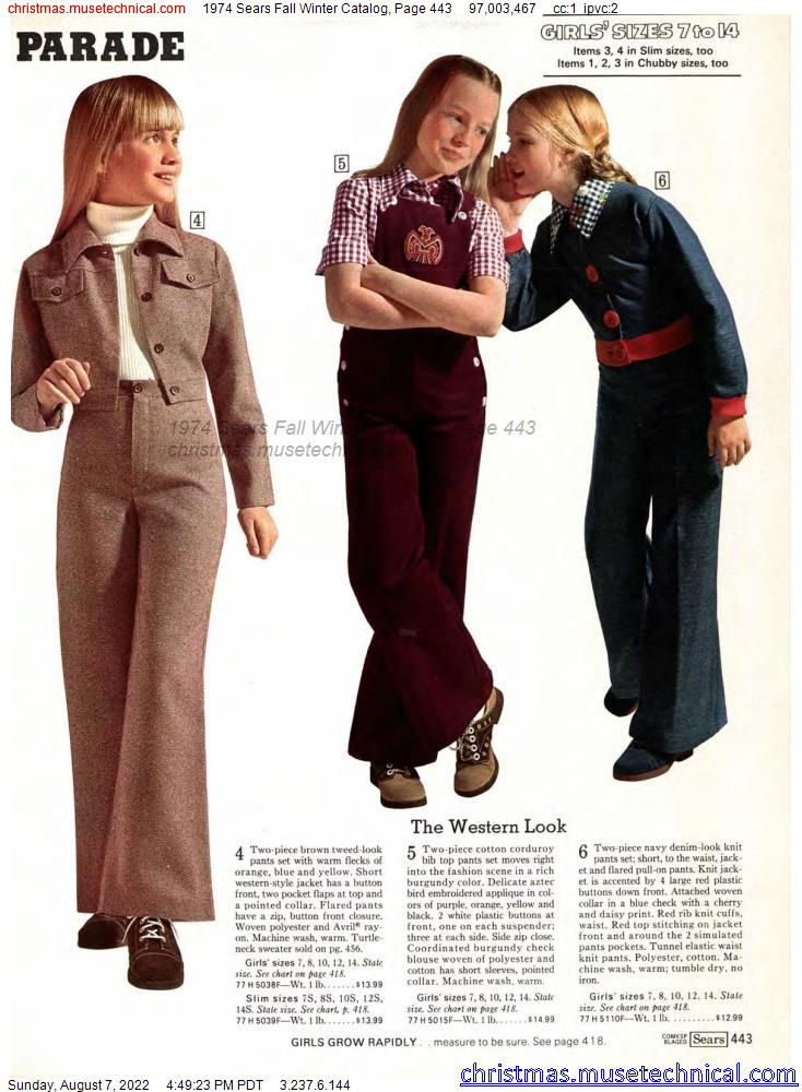 1974 Sears Fall Winter Catalog, Page 443