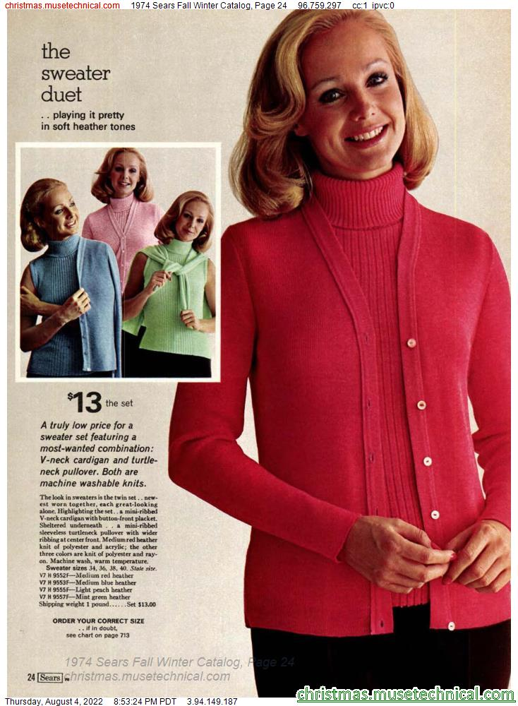 1974 Sears Fall Winter Catalog, Page 24