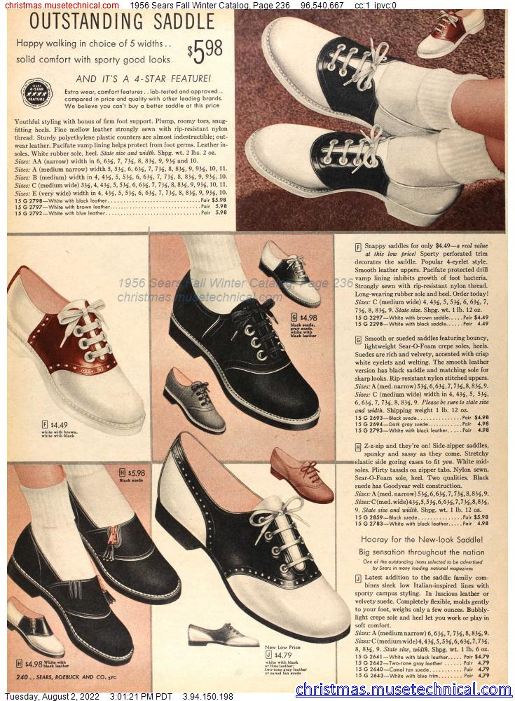 1956 Sears Fall Winter Catalog, Page 236