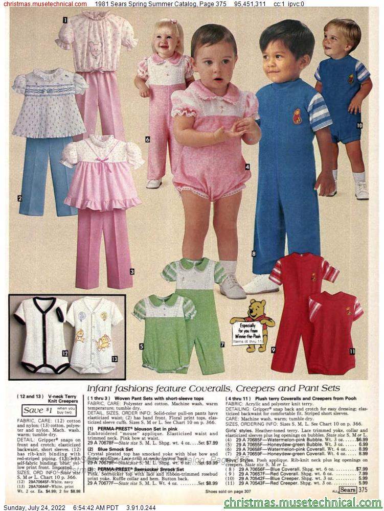 1981 Sears Spring Summer Catalog, Page 375