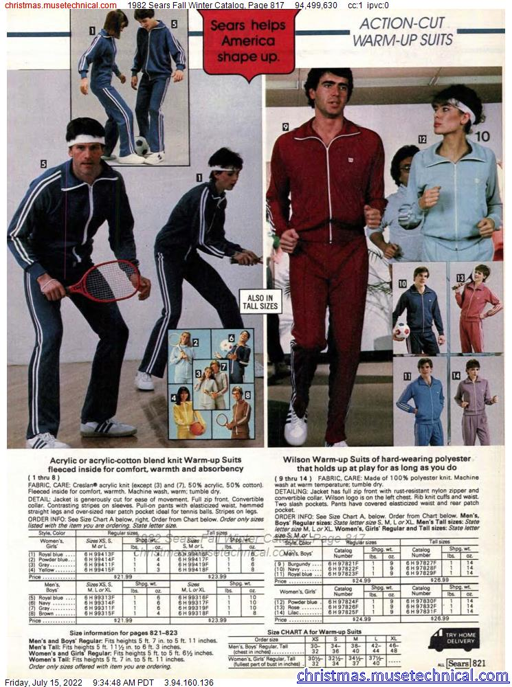 1982 Sears Fall Winter Catalog, Page 817