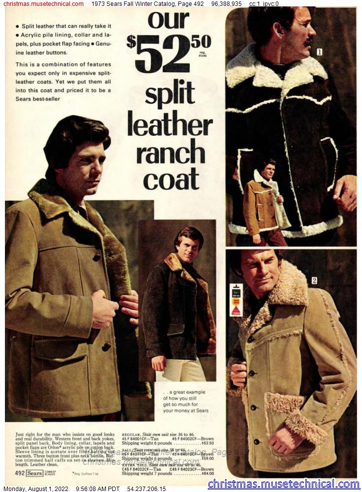 1973 Sears Fall Winter Catalog, Page 492