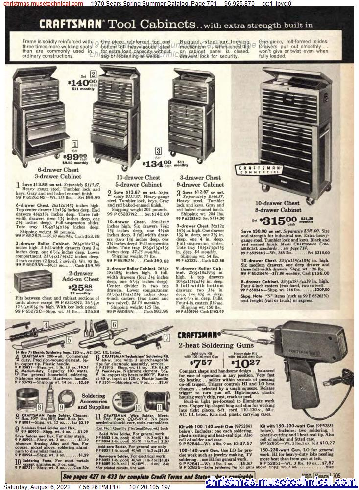 1970 Sears Spring Summer Catalog, Page 701