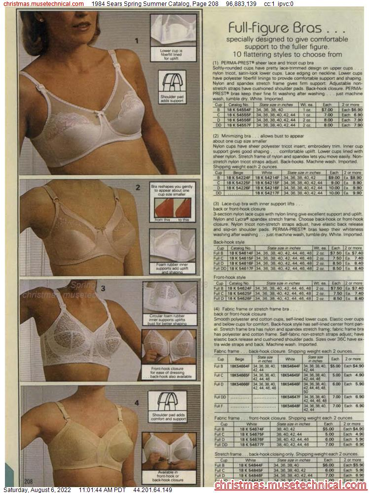 1984 Sears Spring Summer Catalog, Page 208