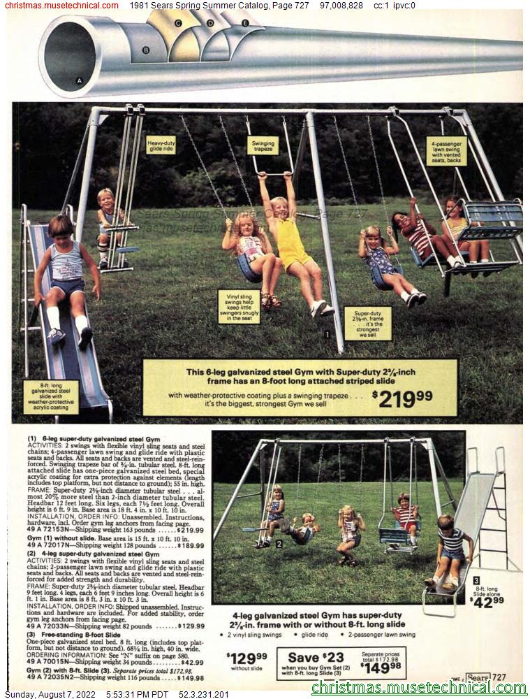 1981 Sears Spring Summer Catalog, Page 727