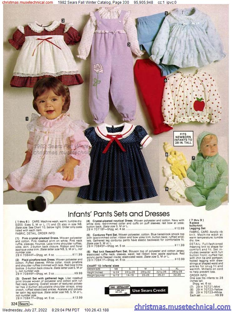 1982 Sears Fall Winter Catalog, Page 330