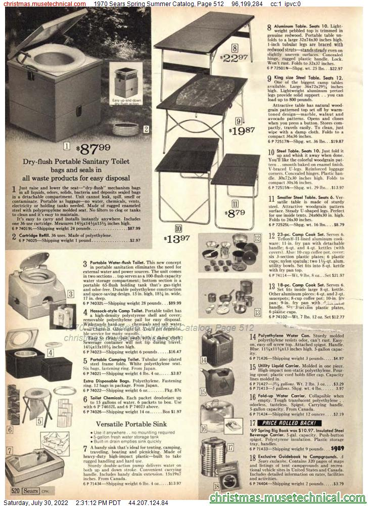 1970 Sears Spring Summer Catalog, Page 512