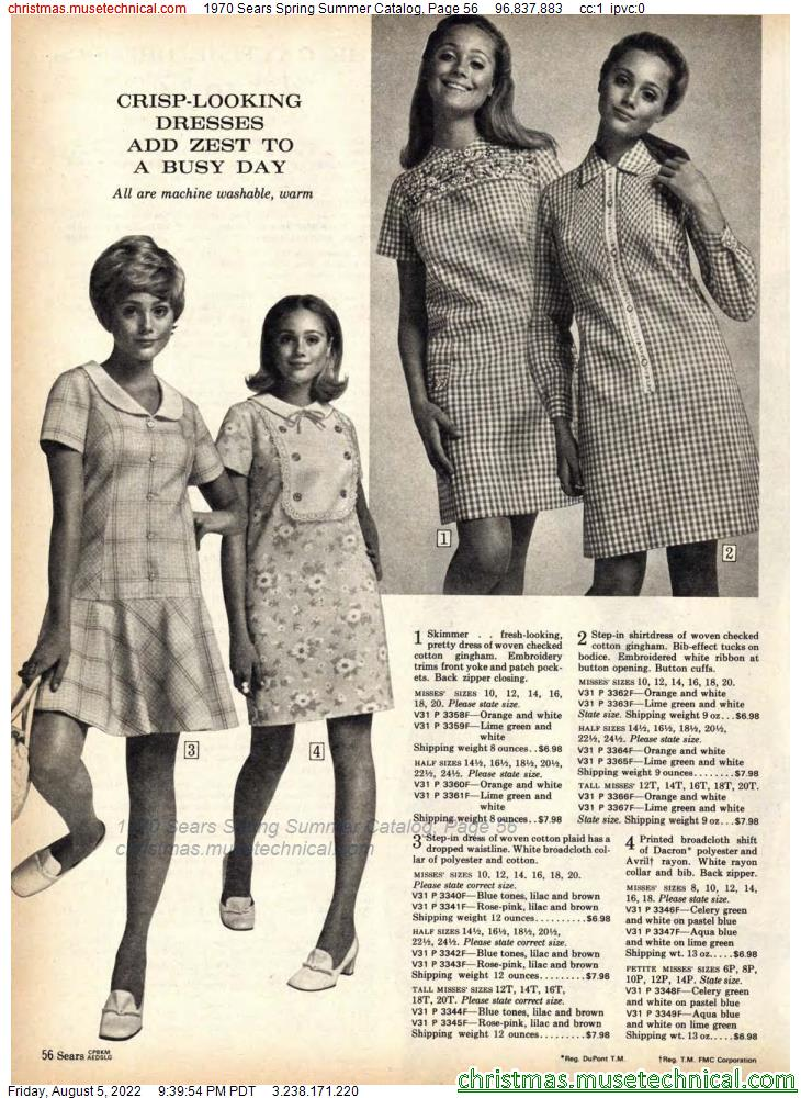 1970 Sears Spring Summer Catalog, Page 56