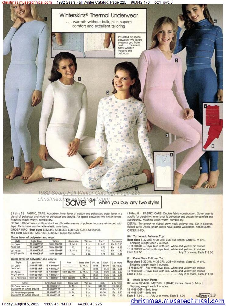 1982 Sears Fall Winter Catalog, Page 225