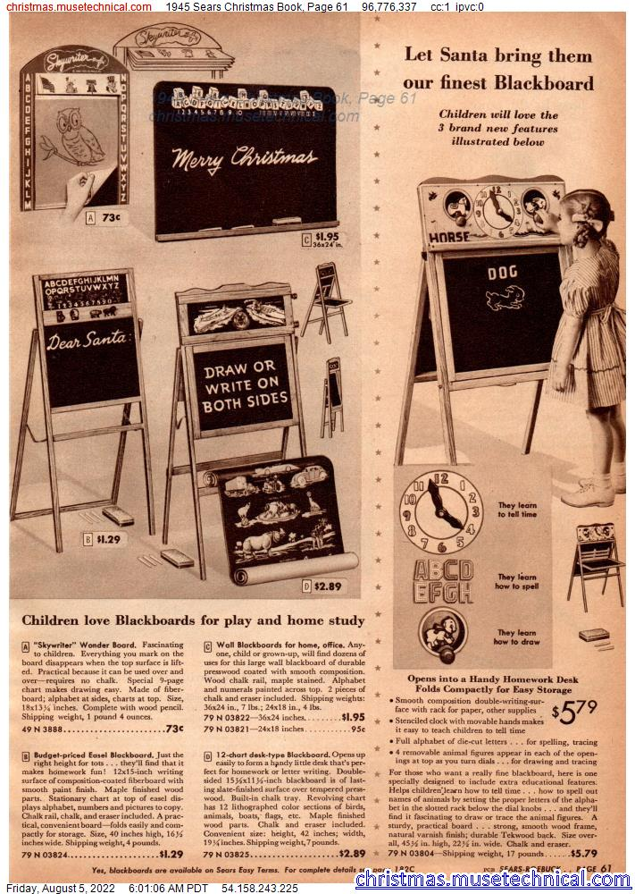 1945 Sears Christmas Book, Page 61