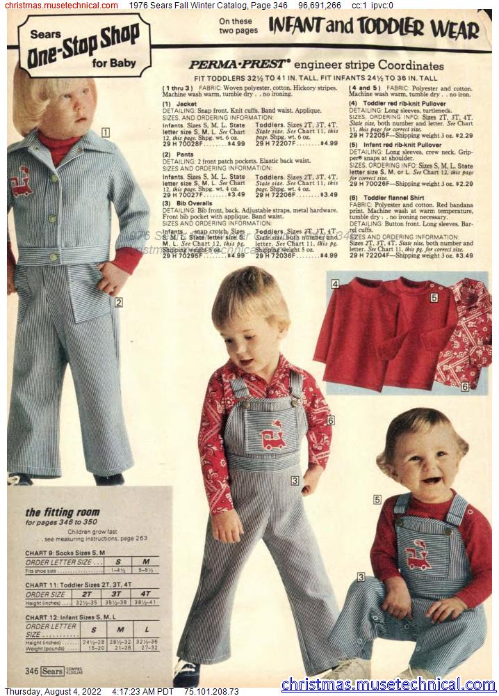 1976 Sears Fall Winter Catalog, Page 346