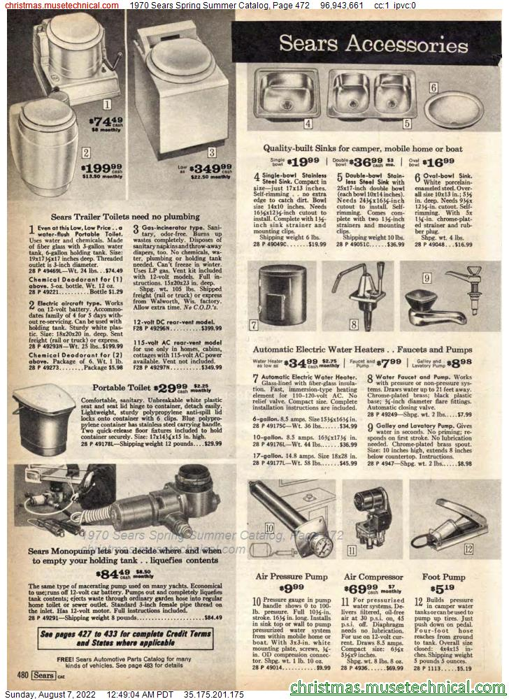 1970 Sears Spring Summer Catalog, Page 472