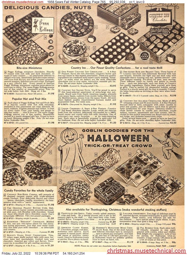 1956 Sears Fall Winter Catalog, Page 765