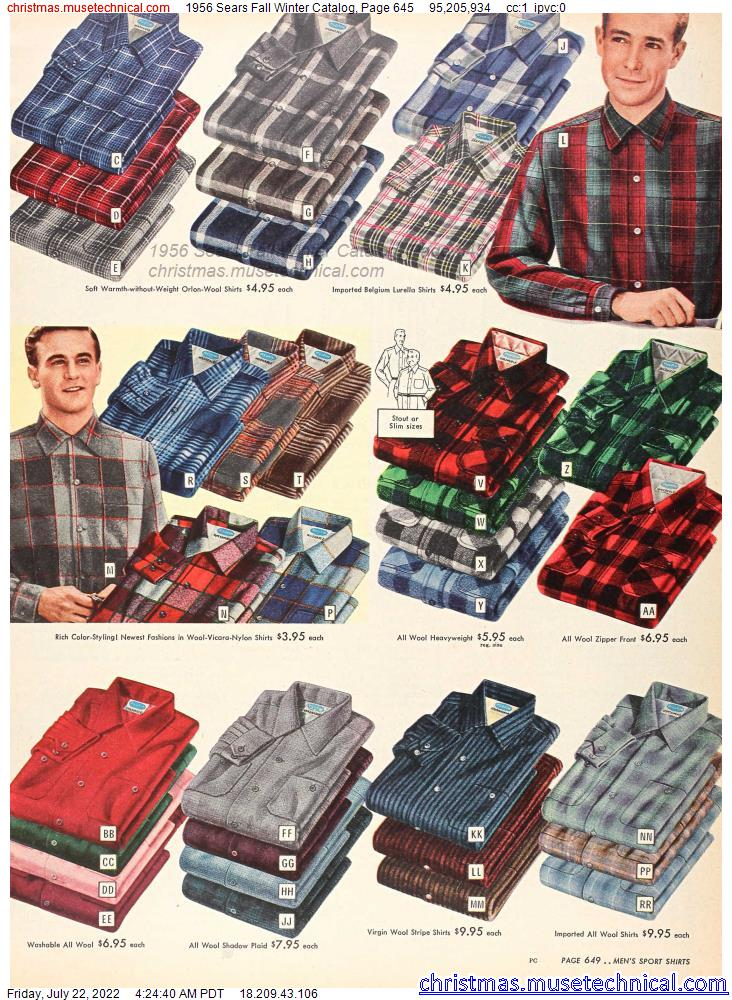 1956 Sears Fall Winter Catalog, Page 645