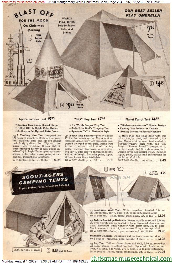 1958 Montgomery Ward Christmas Book, Page 204