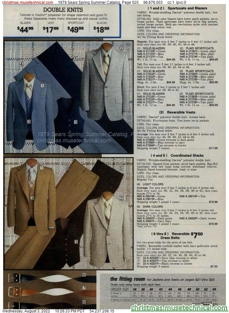 1979 Sears Spring Summer Catalog, Page 525