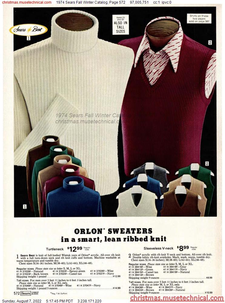 1974 Sears Fall Winter Catalog, Page 572