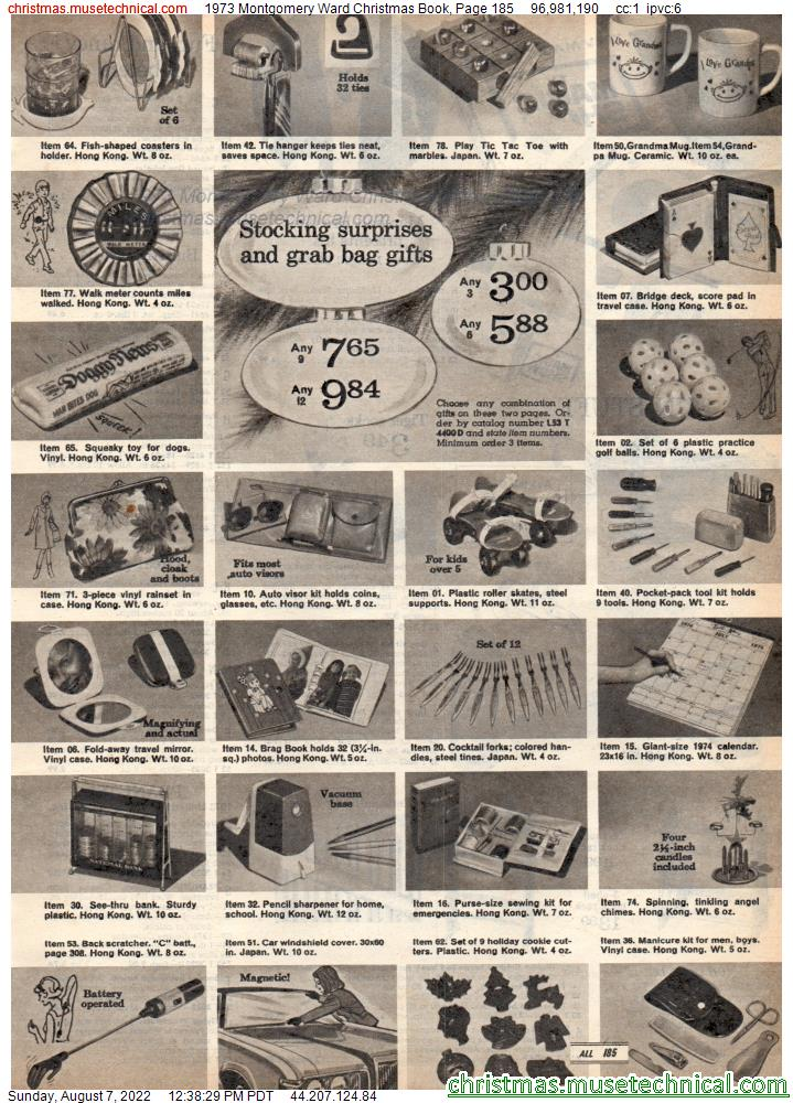 1973 Montgomery Ward Christmas Book, Page 185