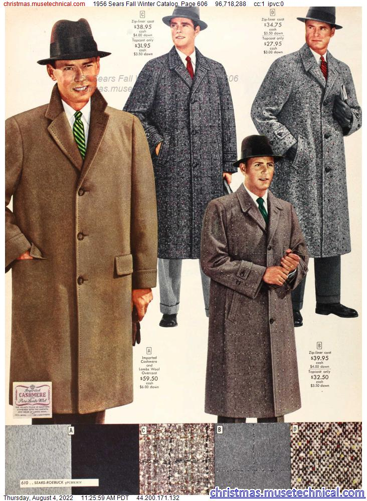 1956 Sears Fall Winter Catalog, Page 606
