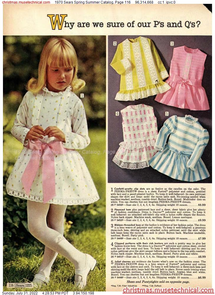 1970 Sears Spring Summer Catalog, Page 116