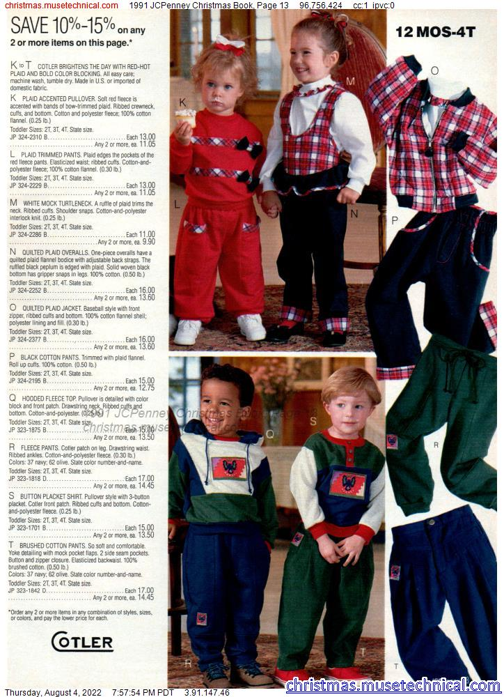 1991 JCPenney Christmas Book, Page 13