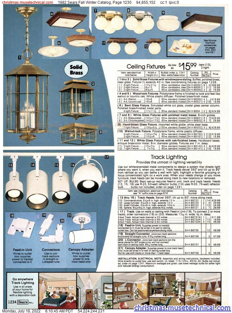 1982 Sears Fall Winter Catalog, Page 1230