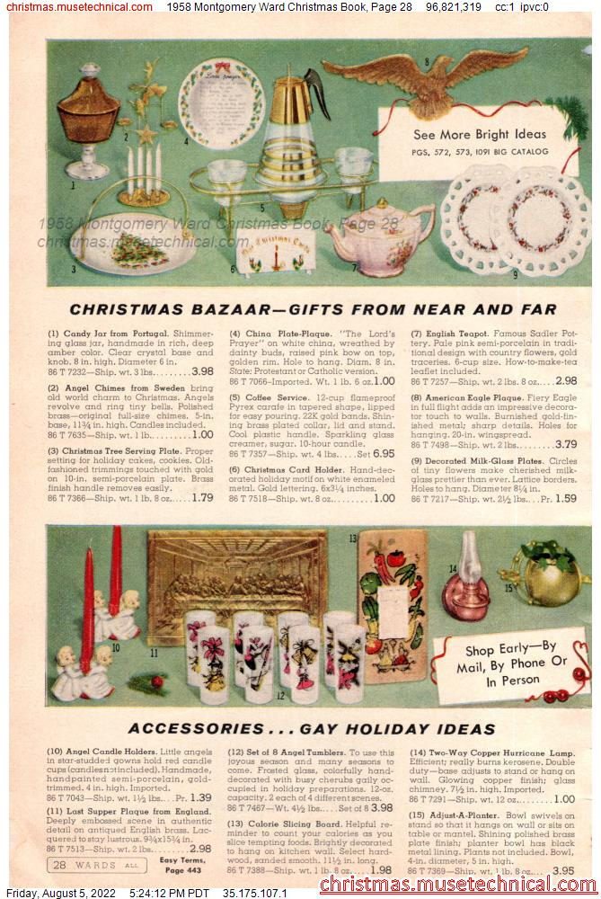 1958 Montgomery Ward Christmas Book, Page 28