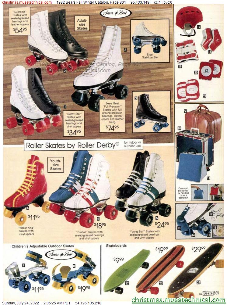 1982 Sears Fall Winter Catalog, Page 801
