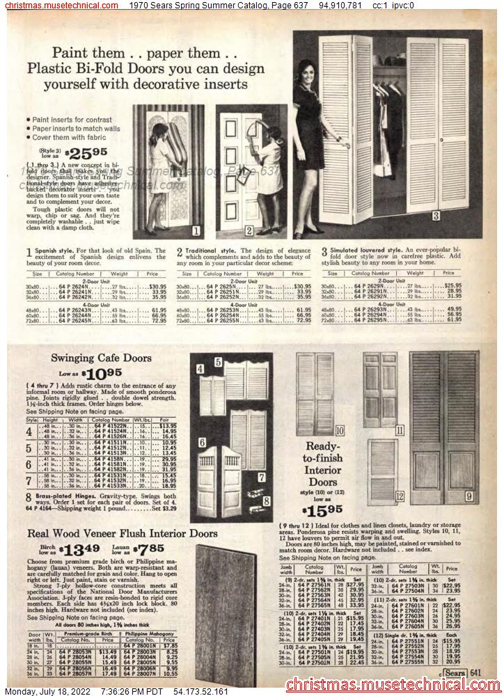 1970 Sears Spring Summer Catalog, Page 637
