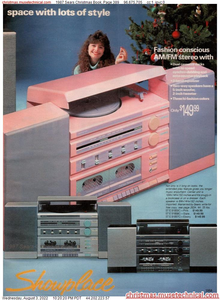 1987 Sears Christmas Book, Page 389