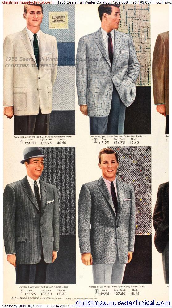 1956 Sears Fall Winter Catalog, Page 608