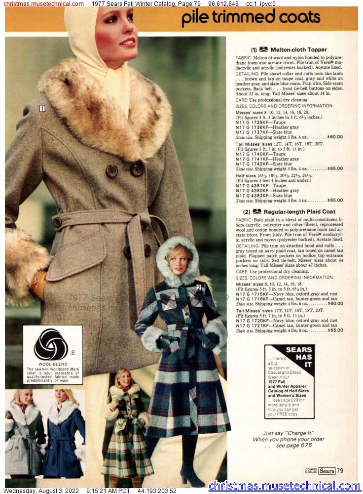 1977 Sears Fall Winter Catalog, Page 79