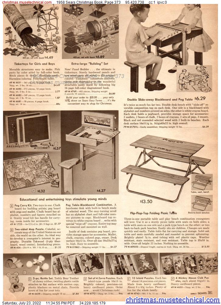 1958 Sears Christmas Book, Page 373