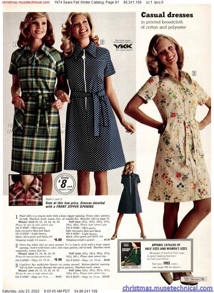 1974 Sears Fall Winter Catalog, Page 91