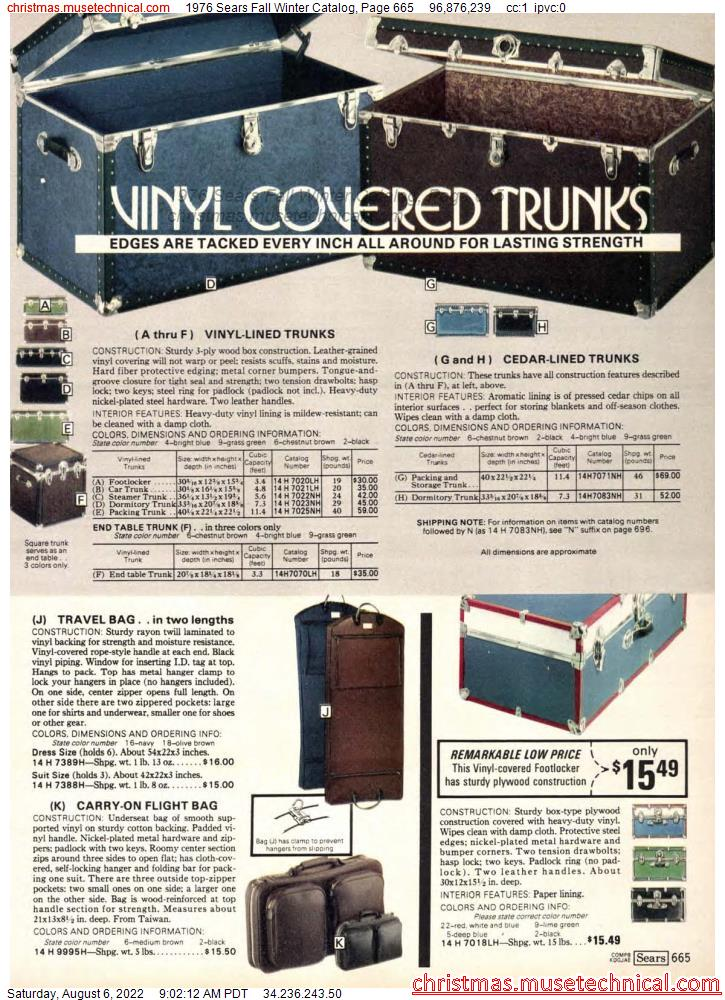 1976 Sears Fall Winter Catalog, Page 665