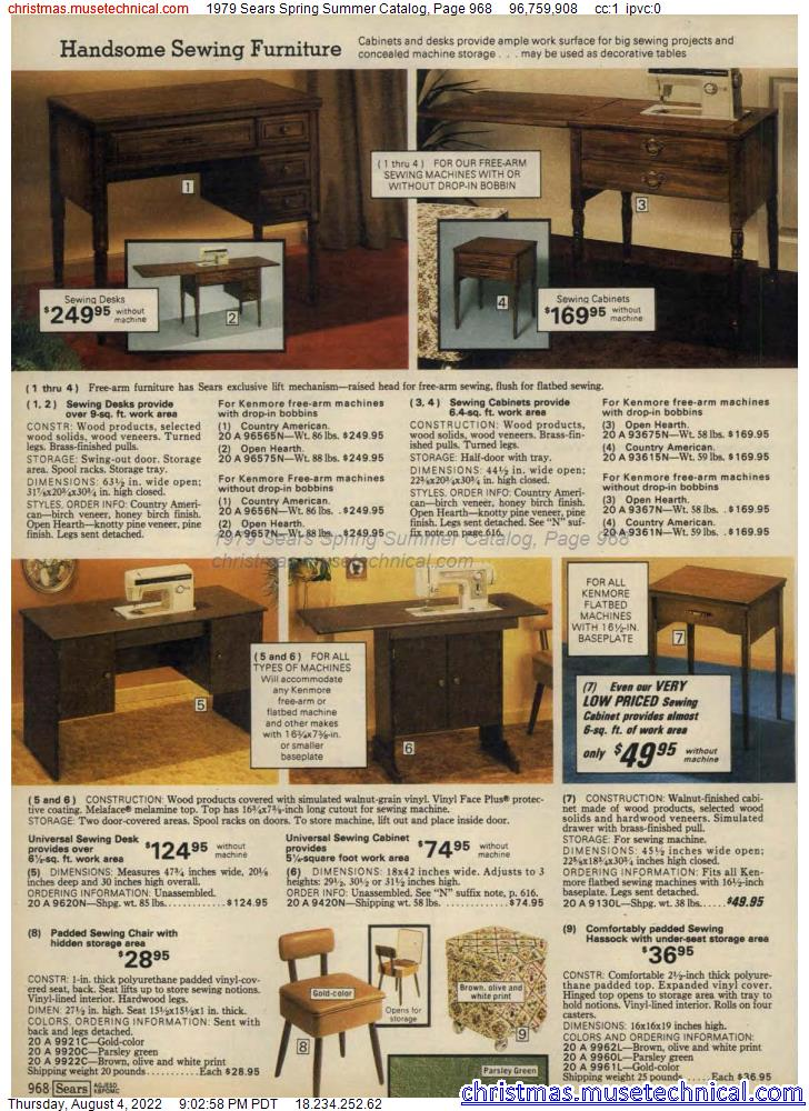 1979 Sears Spring Summer Catalog, Page 968