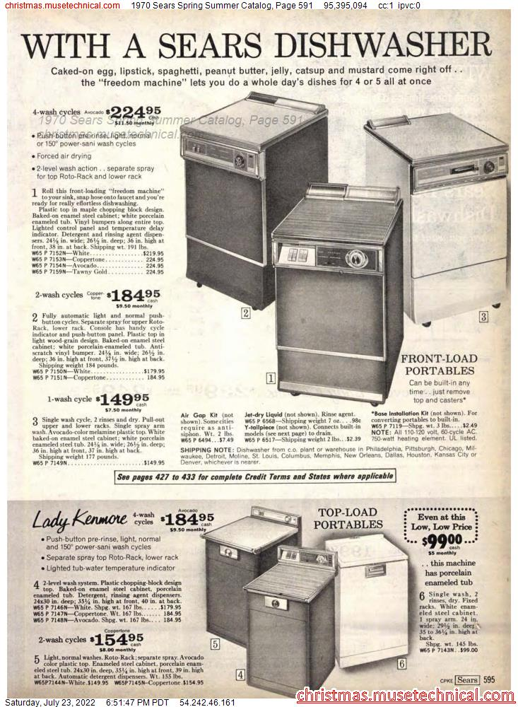 1970 Sears Spring Summer Catalog, Page 591