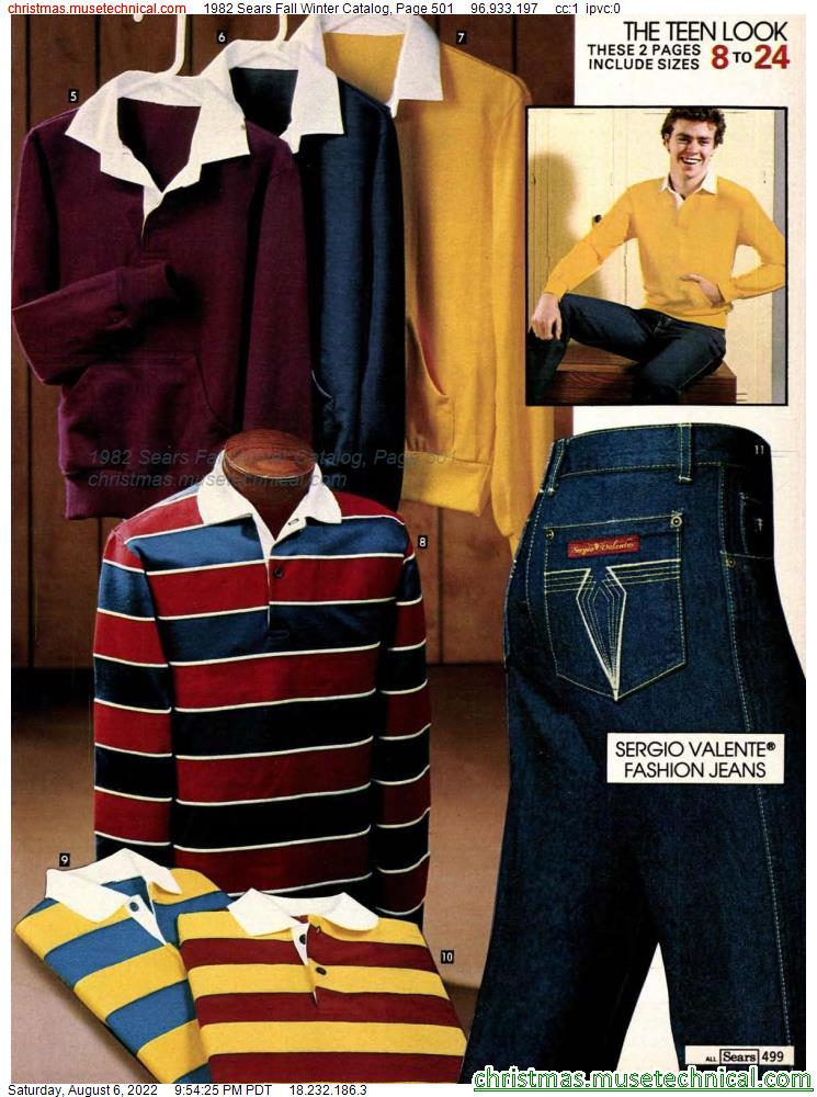 1982 Sears Fall Winter Catalog, Page 501