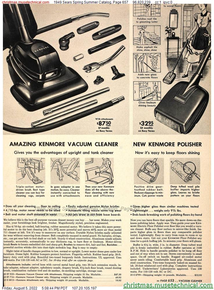 1949 Sears Spring Summer Catalog, Page 657