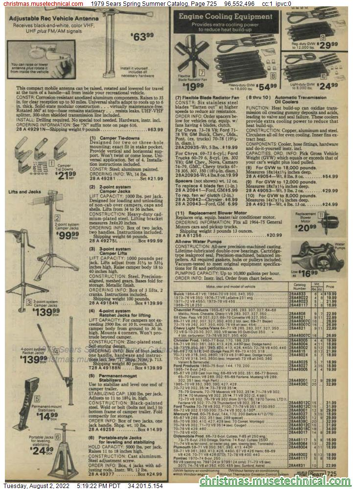 1979 Sears Spring Summer Catalog, Page 725