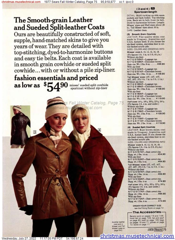 1977 Sears Fall Winter Catalog, Page 75