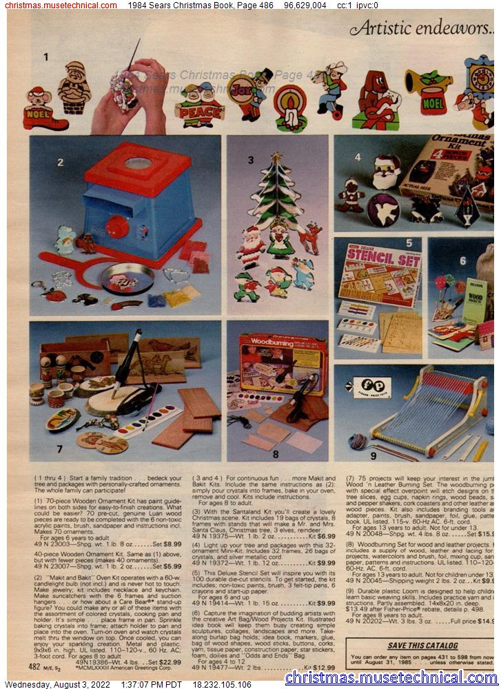 1984 Sears Christmas Book, Page 486