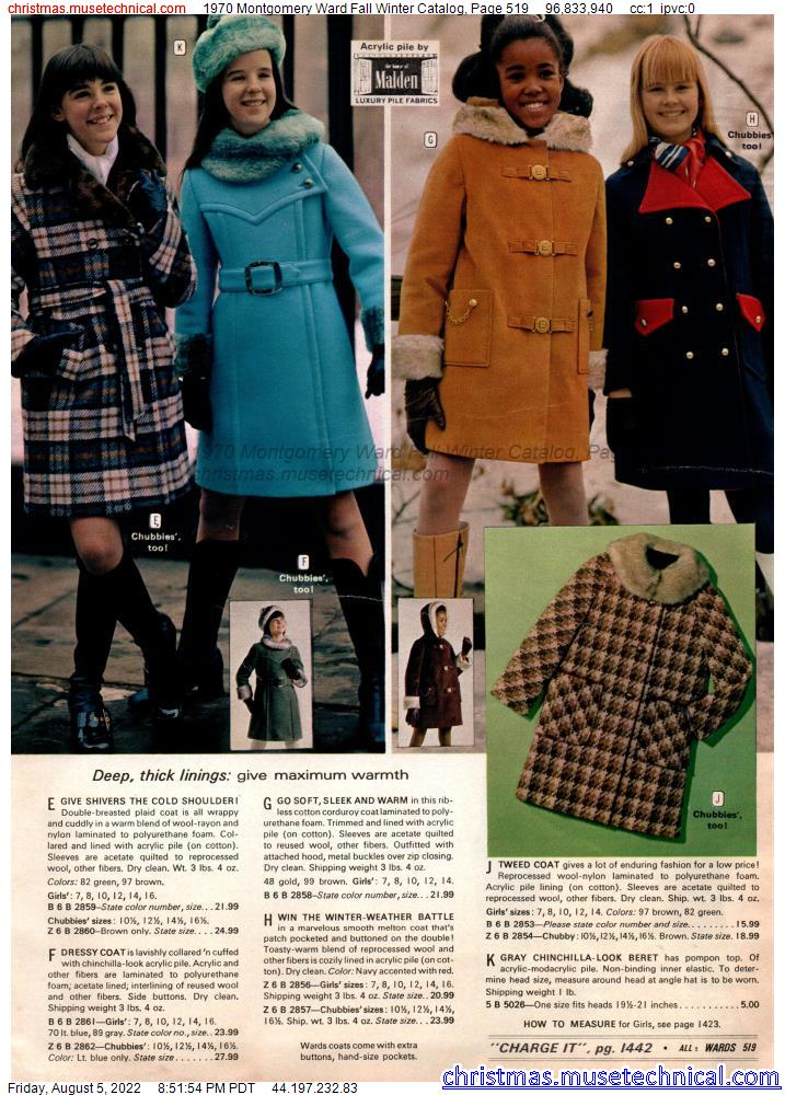 1970 Montgomery Ward Fall Winter Catalog, Page 519