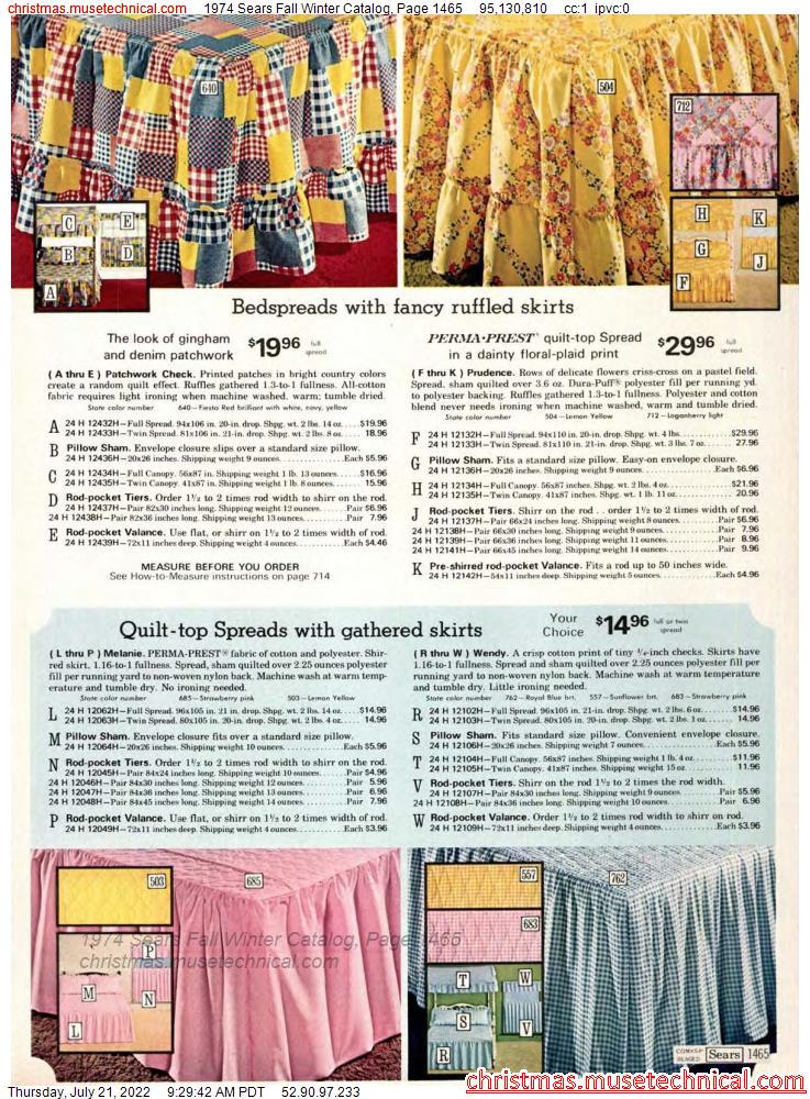 1974 Sears Fall Winter Catalog, Page 1465