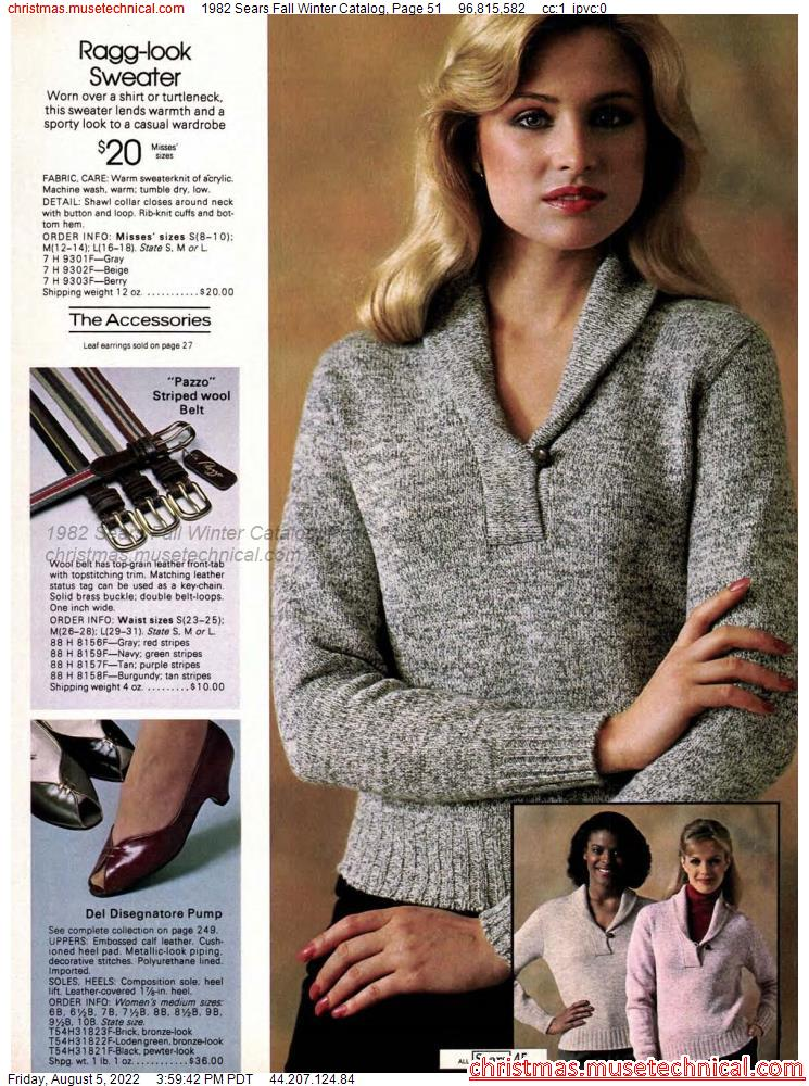 1982 Sears Fall Winter Catalog, Page 51